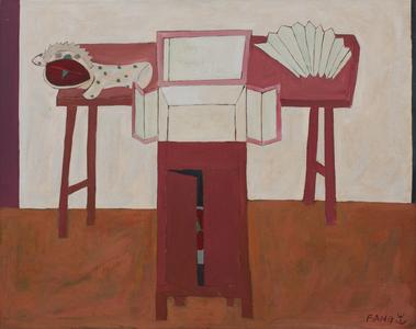 Leque sobre a mesa - Chen Kong Fang