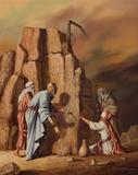 Moisés faz brotar água das rochas - Vito Campanella