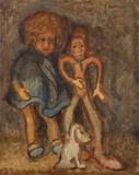 Menina com boneco - Aldo Bonadei