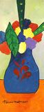 Vaso azul com flores - Aldemir Martins
