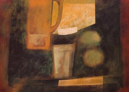 Jarro, fruta e taça - Carlos Scliar