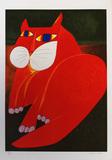 Gato vermelho - 84/120 - Aldemir Martins