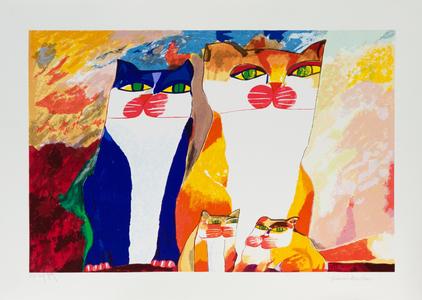 Família de gatos - 88/100 - Aldemir Martins