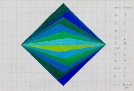 Losango azul e verde - Hercules Barsotti
