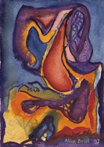 Abstrato cores vivas - Alice Brill