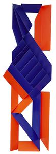 Escultura azul e laranja - Emanoel Araújo