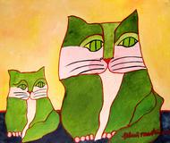 Gatos verdes - Aldemir Martins