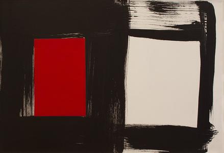 Preto x branco x vermelho - Amilcar de Castro