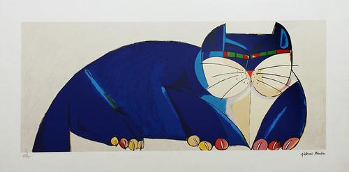 Gato azul 20/100 - Aldemir Martins