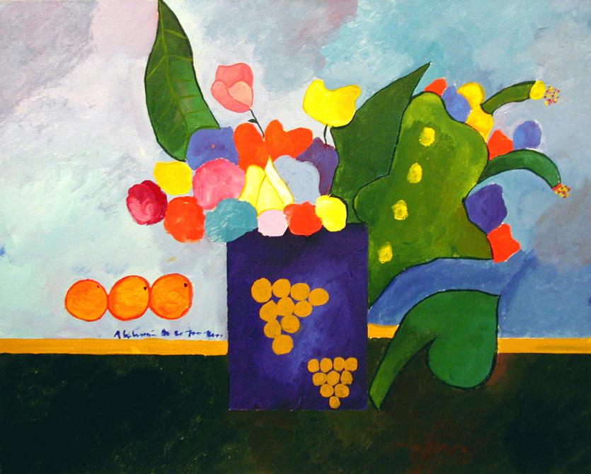 Vaso-com-flores-e-frutas-aldemir-martins