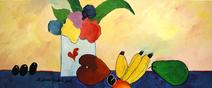 Vaso com flores e frutas - Aldemir Martins
