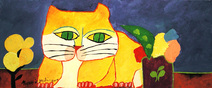Gato amarelo - Aldemir Martins