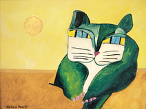Gato Verde e Sol Dourado - Aldemir Martins