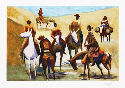Cavalgada  - Carybé (Hector Julio Páride Bernabó)