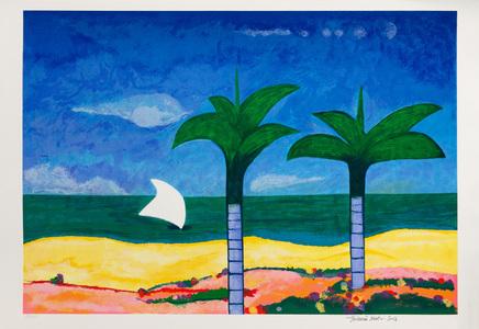 Marinha com coqueiros - 69/150 - Aldemir Martins