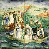 Osirarte - Festa do Divino - Composição Volpi, execução Mário Zanini - Alfredo Volpi