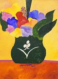 Vaso Verde com Flores - Aldemir Martins
