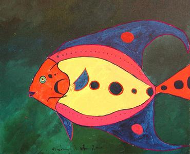 Peixe Colorido - Aldemir Martins