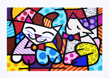 Happy Cat & Snob Dog II - Romero Britto