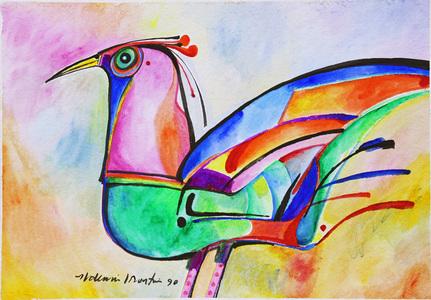 Pássaro Colorido - Aldemir Martins
