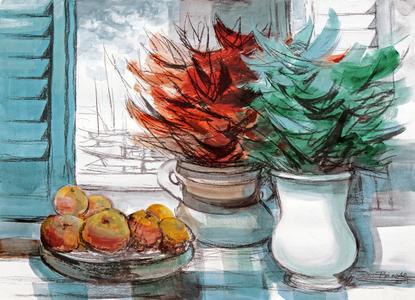 Natureza morta com flores - Enrico Bianco