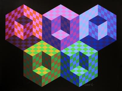 Hexa 5 - 61/300 - Victor Vasarely