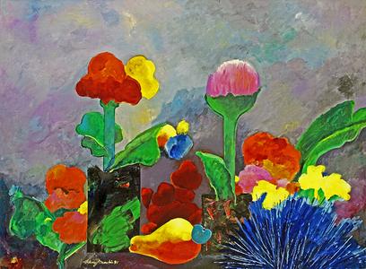 Flores e caju - Aldemir Martins