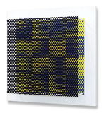 Vibration 16 carres bleu et jaune - 12/15 - Antonio Asis