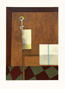 Vaso com flores sobre a mesa - 7/85 - Inos Corradin