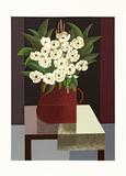 Vaso com flores e pássaros sobre a mesa - 20/200 - Inos Corradin