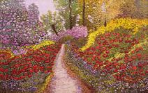 Caminho na paisagem colorida - Marli Pereira Oliveira