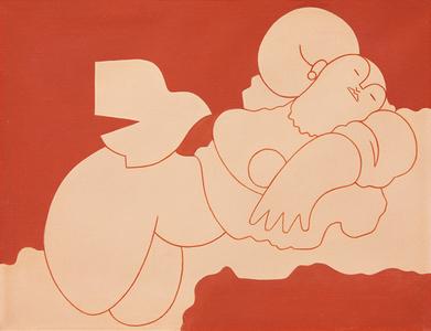 Vênus e pássaro - Milton Dacosta
