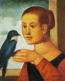 Mulher com pássaro - Reynaldo Fonseca