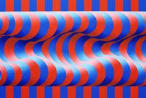 Ondulação azul e vermelha - Yuli Geszti