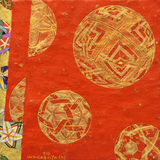 Temari vermelho - Kazuo Wakabayashi