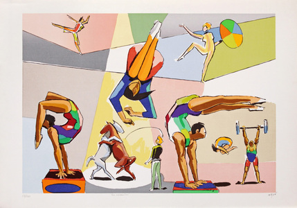 Os acrobatas - 50/180 - Carybé (Hector Julio Páride Bernabó)