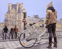 Observando Louvre - Paulo Cabral