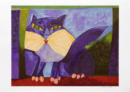 Gato roxo - 15/150 - Aldemir Martins