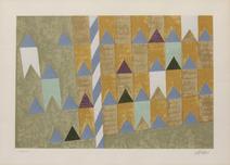Bandeirinhas e mastro - 132/150 - Alfredo Volpi