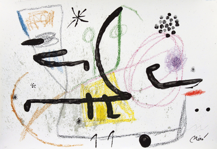 Maravillas con variaciones acrósticas en el jardin de Joan Miró, mod. 9 - Joan Miró