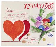 Cartão pata Cora - Aldemir Martins