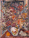 Floral sobre jarro - Sou Kit Gom