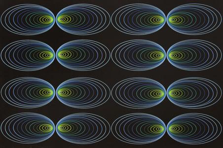 Junção de bordas em elipses do azul ao verde - Cukier
