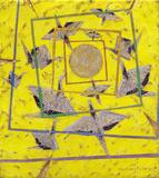Orizuru amarelo - Kazuo Wakabayashi