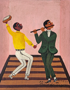 O flautista e o ritmista - Heitor dos Prazeres