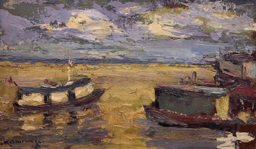 Barcos no Rio Amazonas - Tadashi Kaminagai