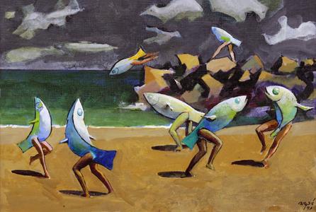 Sereias dançando - Carybé (Hector Julio Páride Bernabó)