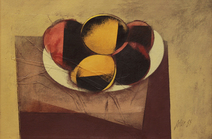 Frutas no prato - Carlos Scliar