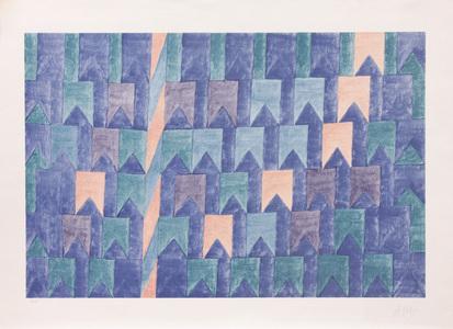 Bandeirinhas e mastro - H.C. - Alfredo Volpi