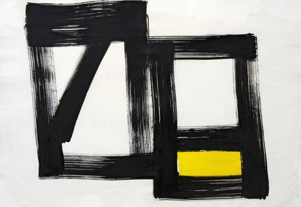 Preto x branco x amarelo - Amilcar de Castro